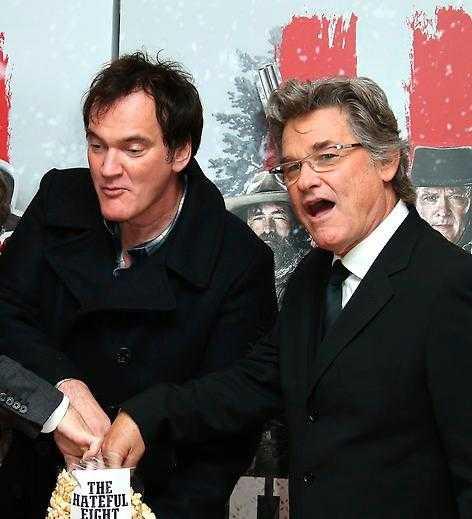 Inspelningarna var roliga, enligt Kurt Russell. Tarantino avbröt för party varje gång de filmat 100 rullar.