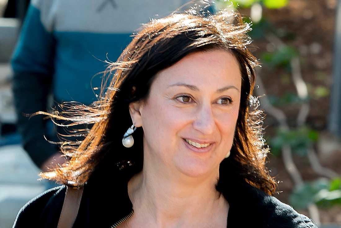 Journalisten Daphne Caruana Galizia mördades av en bilbomb 2017.