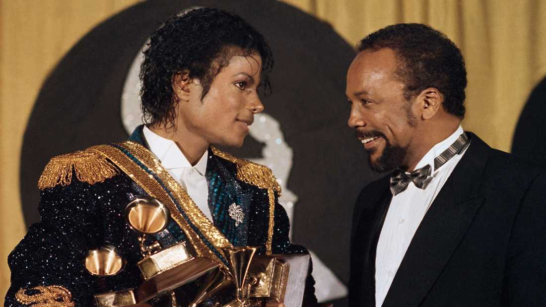 Michael Jackson och Quincy Jones 1984.