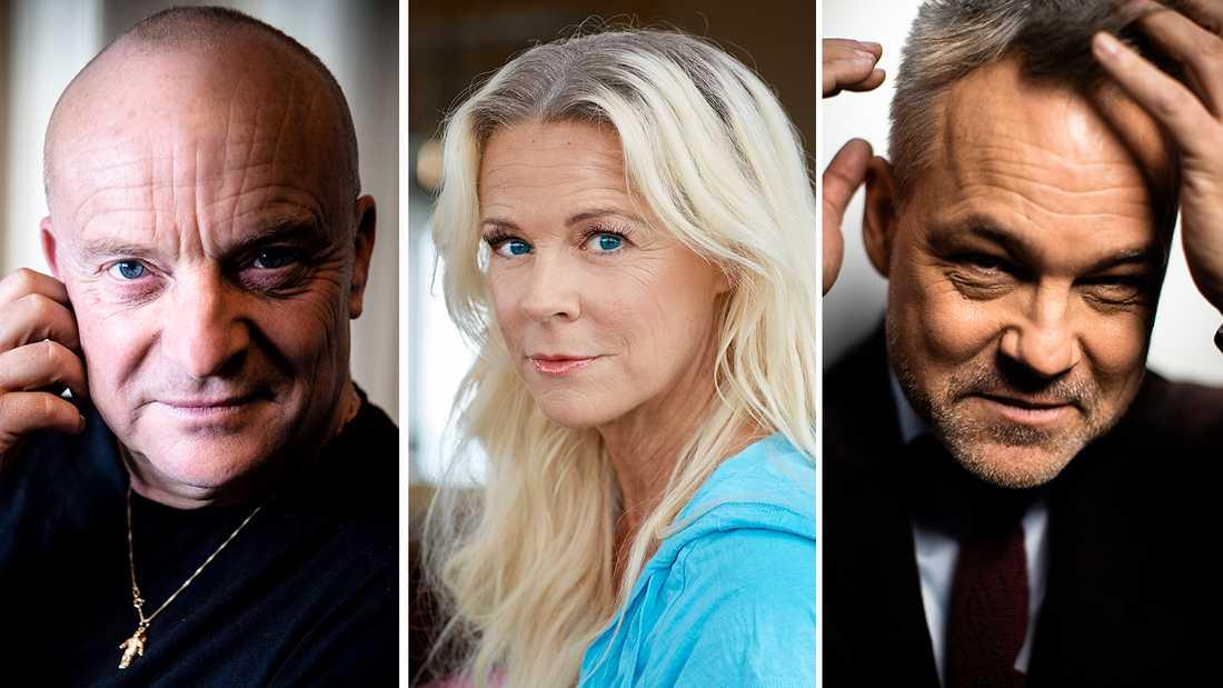 Jonas Gardell, Malena Ernman och Henrik Schyffert.