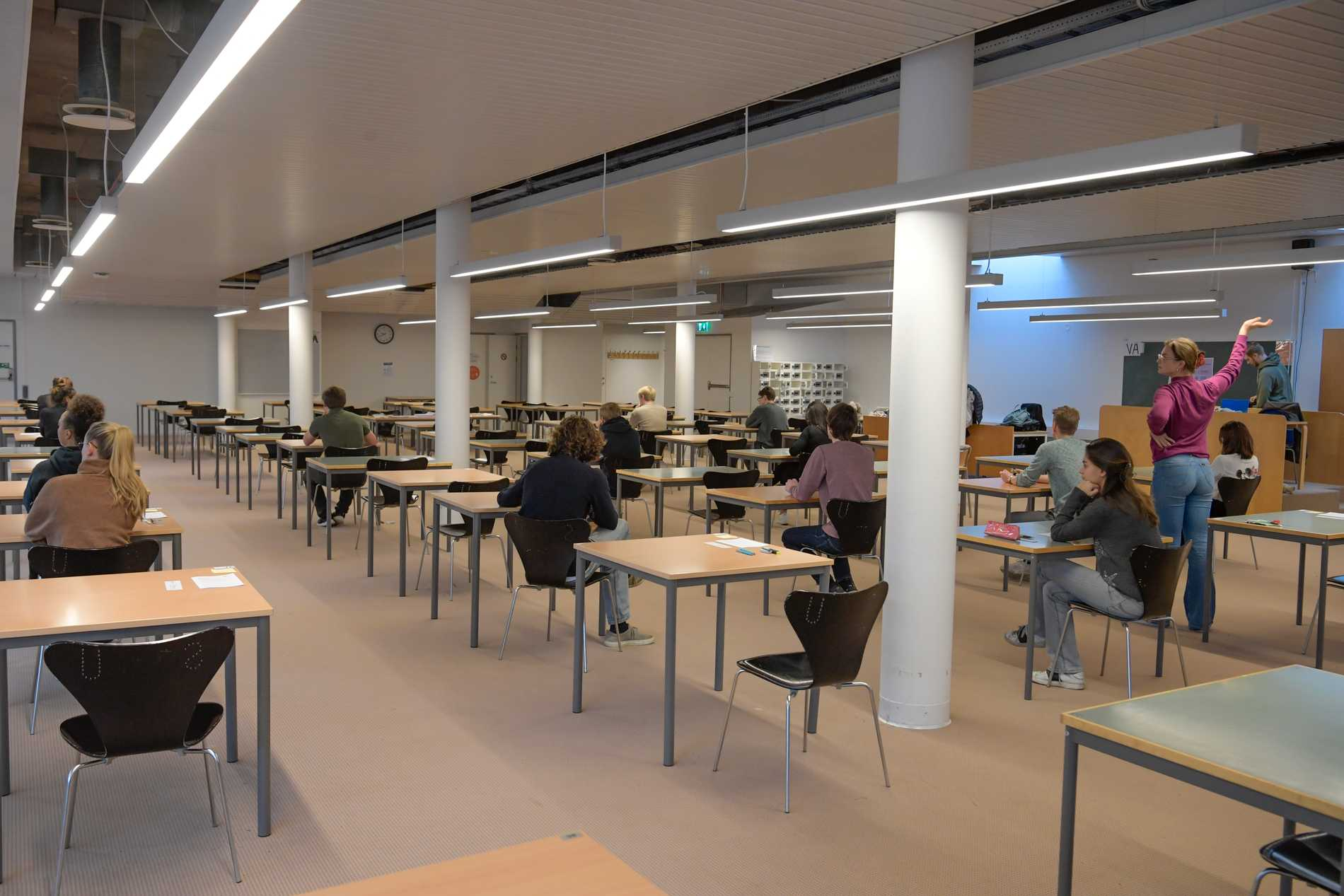 Ett högskoleprov på Stockholms universitet. Arkivbild.
