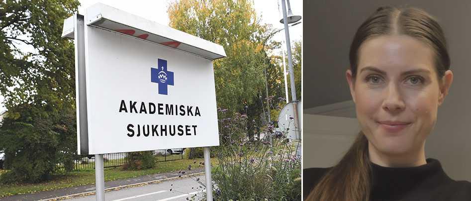 Sofia Lindström vittnar om att personalen på Akademiska sjukhuset är pressad.