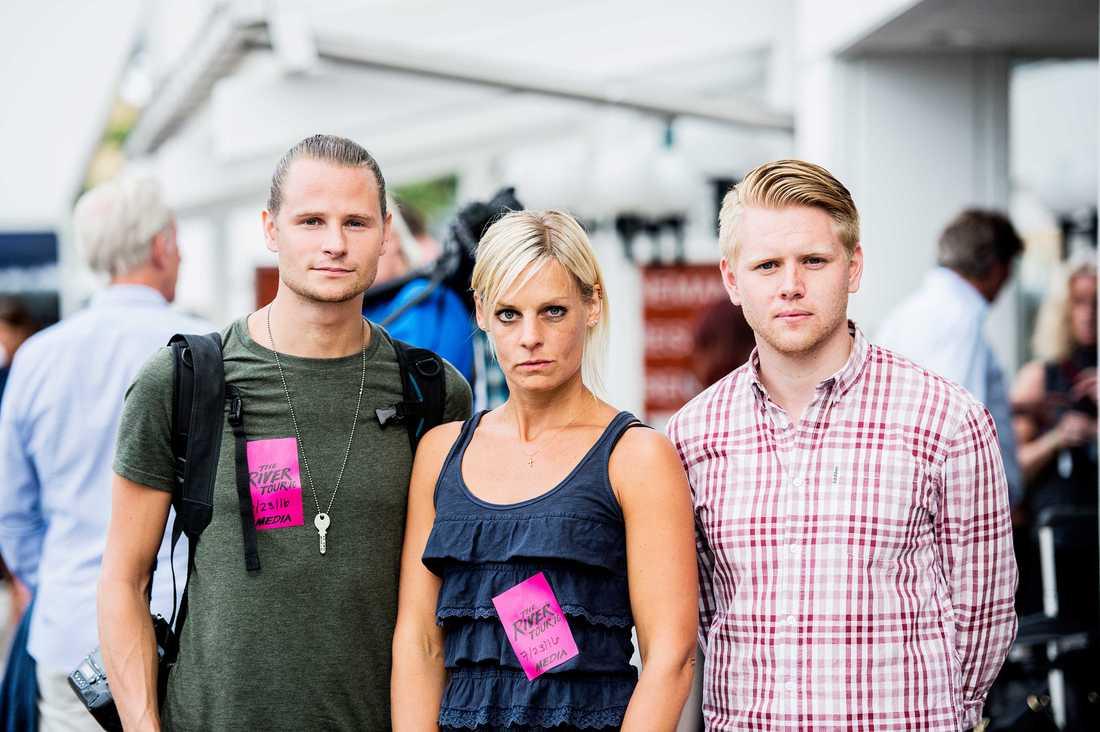 Aftonbladets Robin Lorentz Allard, Carolina Byrmo och Robin Pettersson.