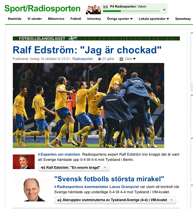 Sveriges radio.