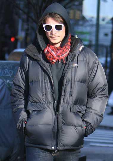 Vintervärmare! Josh Hartnett på promenad i Greenwich Village i New York.