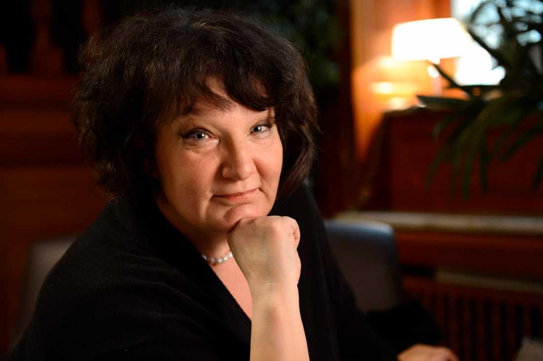 """Monika Fagerholm tilldelades Augustpriset 2005 för """"Den amerikanska flickan""""."""