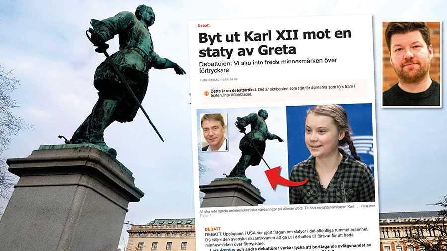 Karl XII-statyn var ett demokratiskt projekt