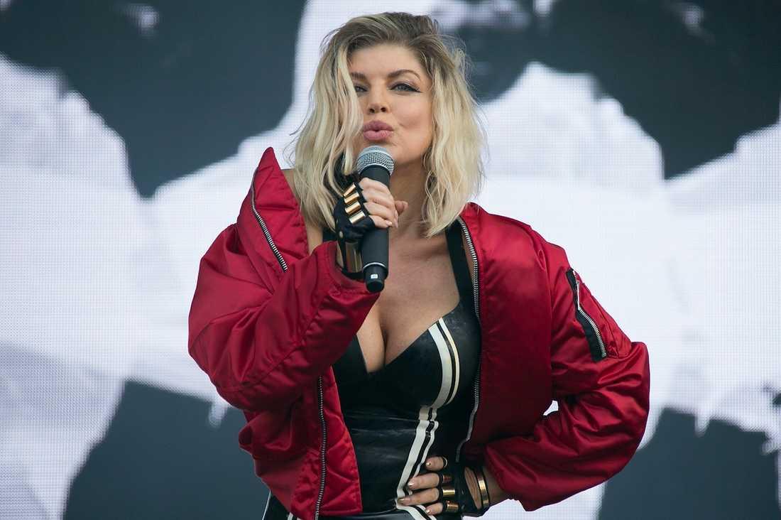 Fergie under en konsert i London sommaren 2016.