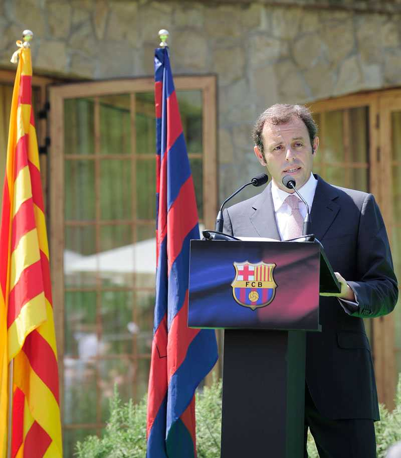 Barcelonas nye ordförande Sandro Rosell.