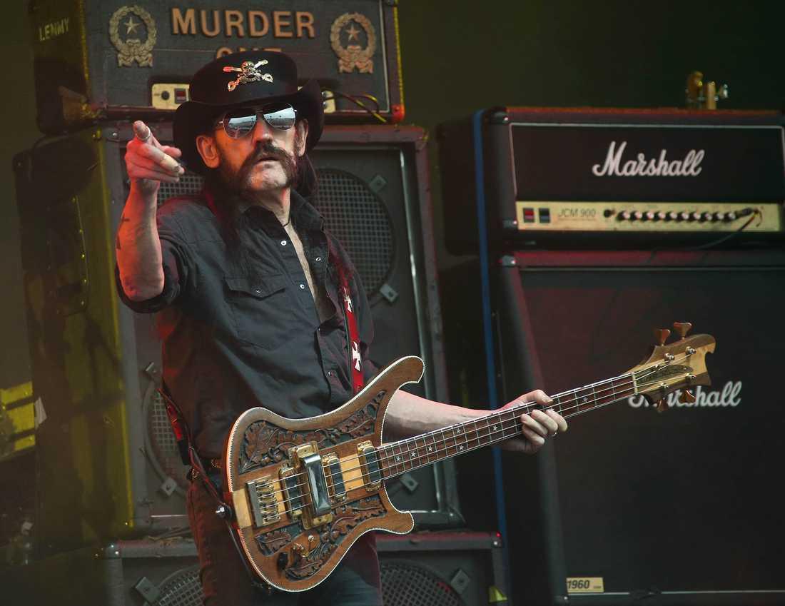 Lemmy Kilmister  vid Glastonbury music festival Juni2015
