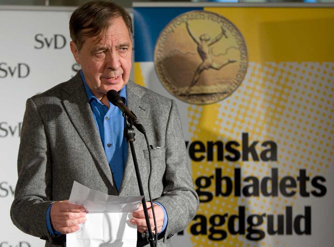 Svenska Dagbladets förre sportchef och krönikör Sune Sylvén har avlidit. Arkivbild.