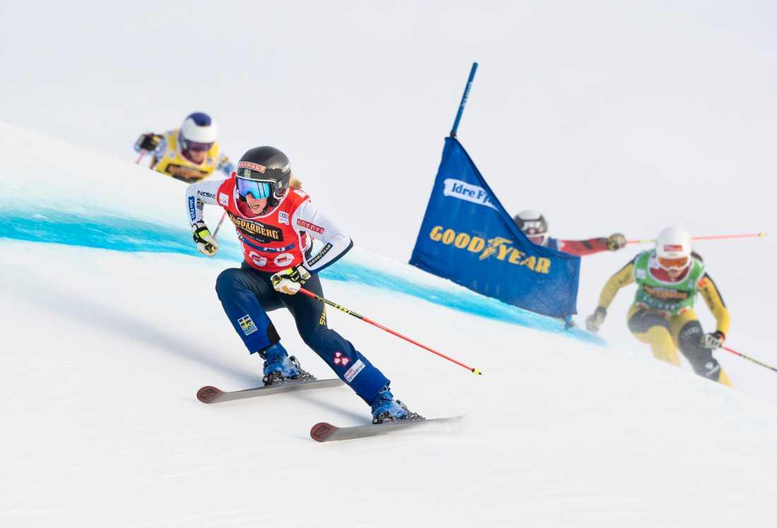 Sandra Näslund i världscupen i Idre för ett år sedan. Nu är det klart att VM-tävlingar ska hållas där. Arkivbild.