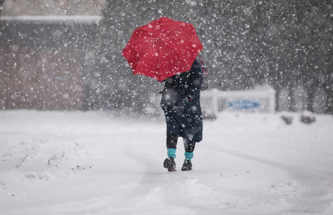 Det blir mycket snö i delar av norra Sverige i helgen. Arkivbild.