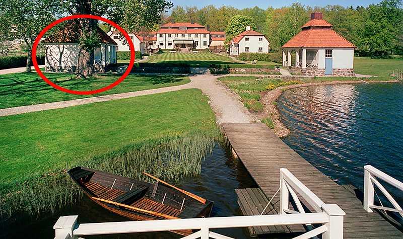 Den omstridda bastun på Harpsund.