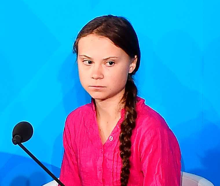 Greta Thunberg under FN:s klimatmöte.