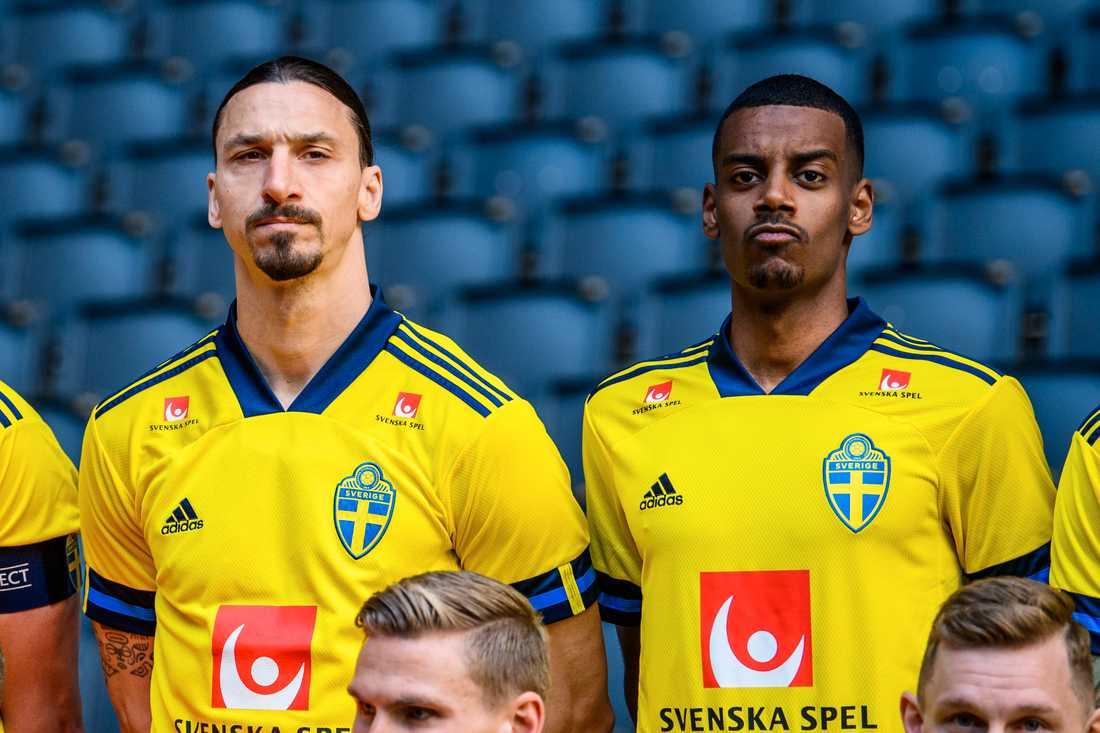 Zlatan och Alexander Isak.
