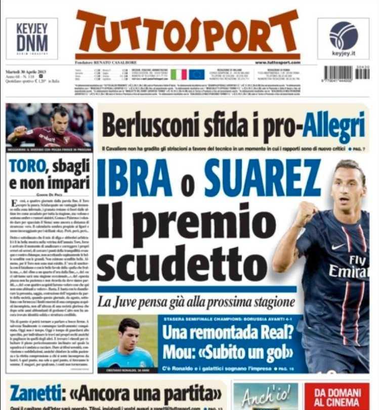 ...och tidningen Tuttosport.