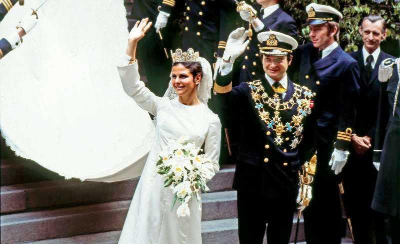 4d0220c8f9fc Den 19 juni 1976 gifte sig Kung Carl XVI Gustaf och Silvia Sommerlath. Nu  visas