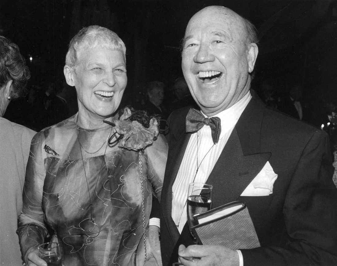 Lennart och Tuss Hyland på Lill-Babs 50-årskalas 1988.