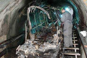 155 personer dog när det började brinna i bergbanan i Kaprun.