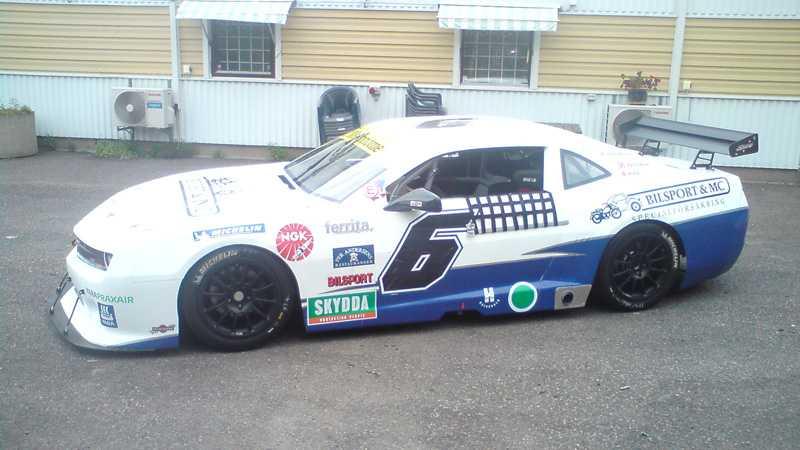 Den här bilen kommer P-G Andersson att köra i Camaro Cup.