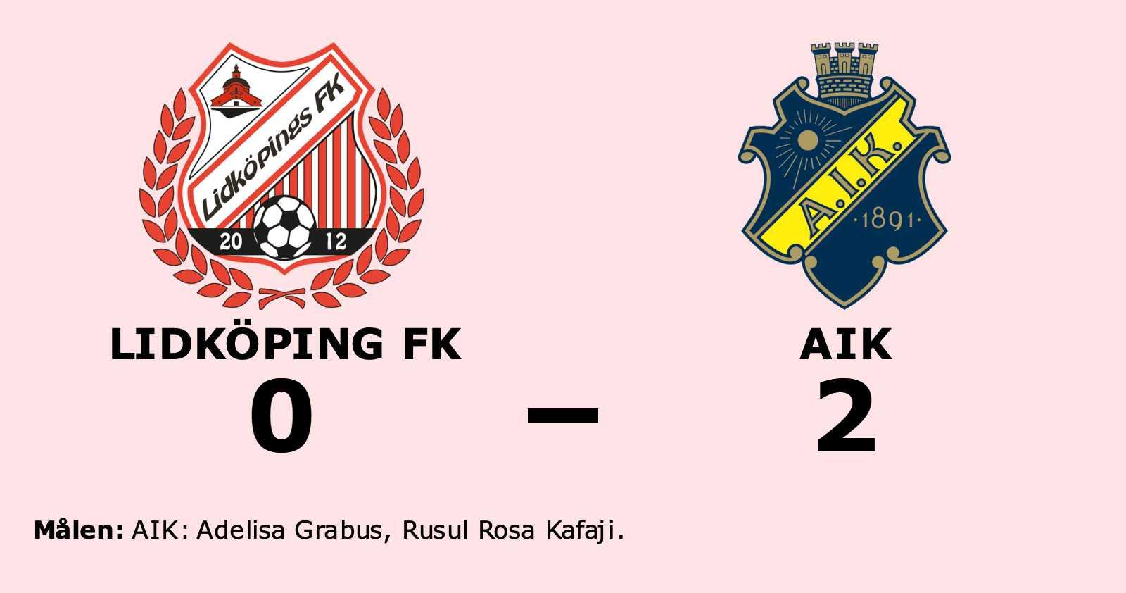 Adelisa Grabus och Rusul Rosa Kafaji matchvinnare när AIK vann