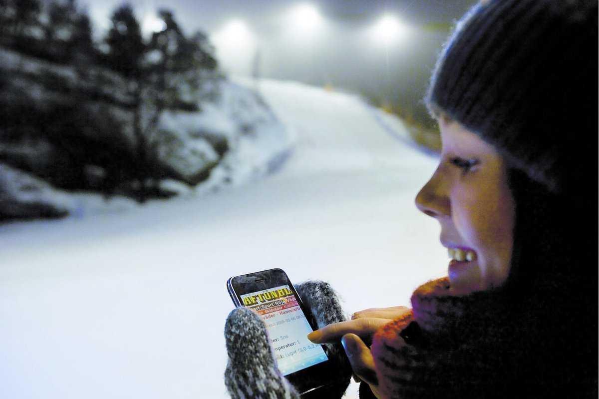 Snökoll direkt Är du ute i backen och vill kolla in väder och snödjup? Inga problem. Det enda du behöver är en mobil, så ger Aftonbladets nya mobila tjänst svar.