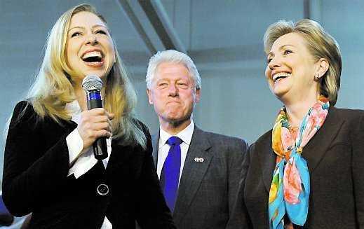 Clinton 1993–2001 Chelsea Clinton, flyttade in vid 12, ut vid 20.