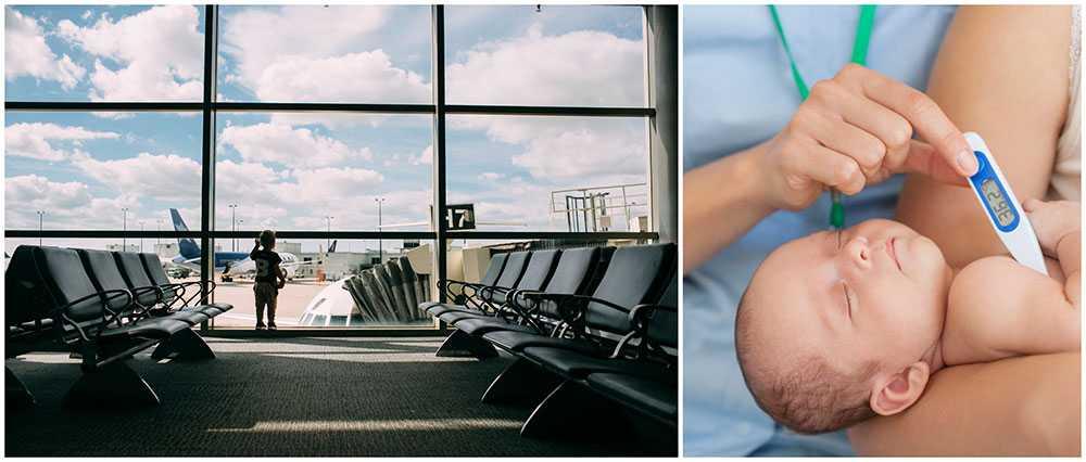 Ett barn med mässling kan ha smittat flera på Newark Liberty International Airport. (Barnet på bilden har inget med händelsen att göra).