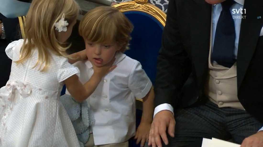 Prinsessan Leonore kopplar greppet.