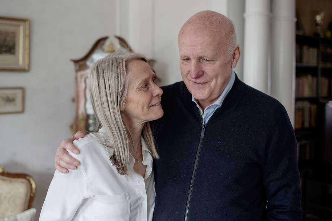 Arne Hegerfors tillsammans med sin fru Kerstin.