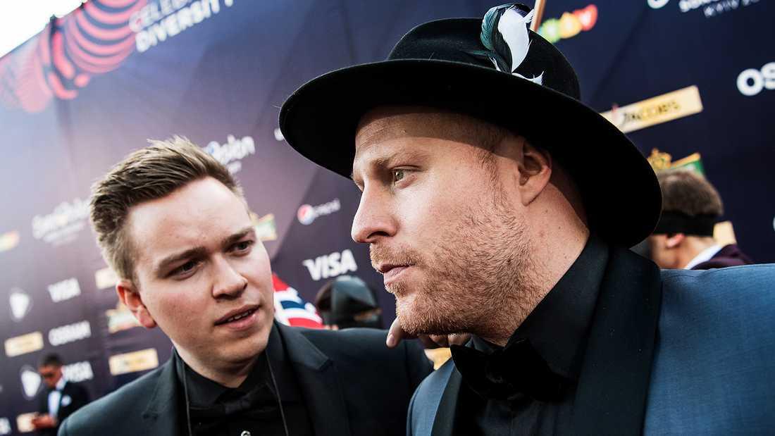 Joakim With Steen (JOWST, till höger) och Aleksander Walmann, Norge (bidrag nr 12 på torsdag).
