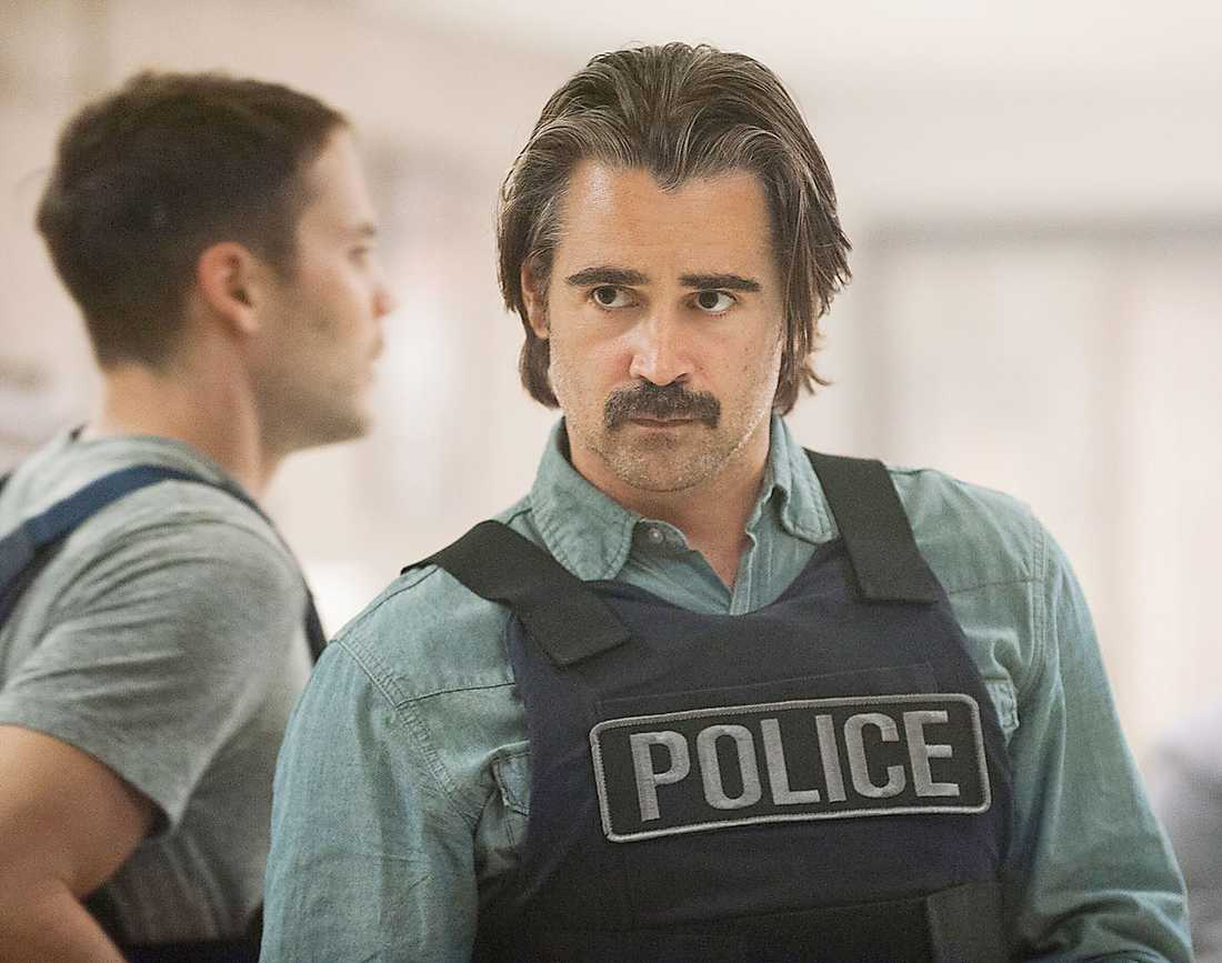 """I """"True detective"""" spelar Colin Farrell en man som är van vid att uttrycka sig med våld."""