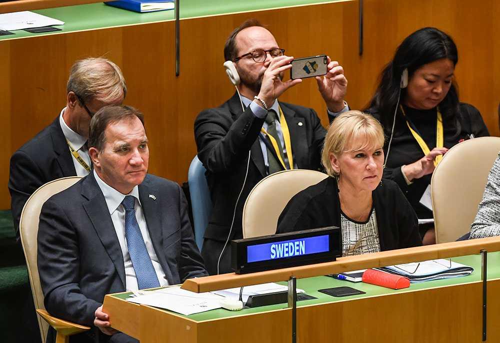 Margot Wallström vid toppmötet i New York.
