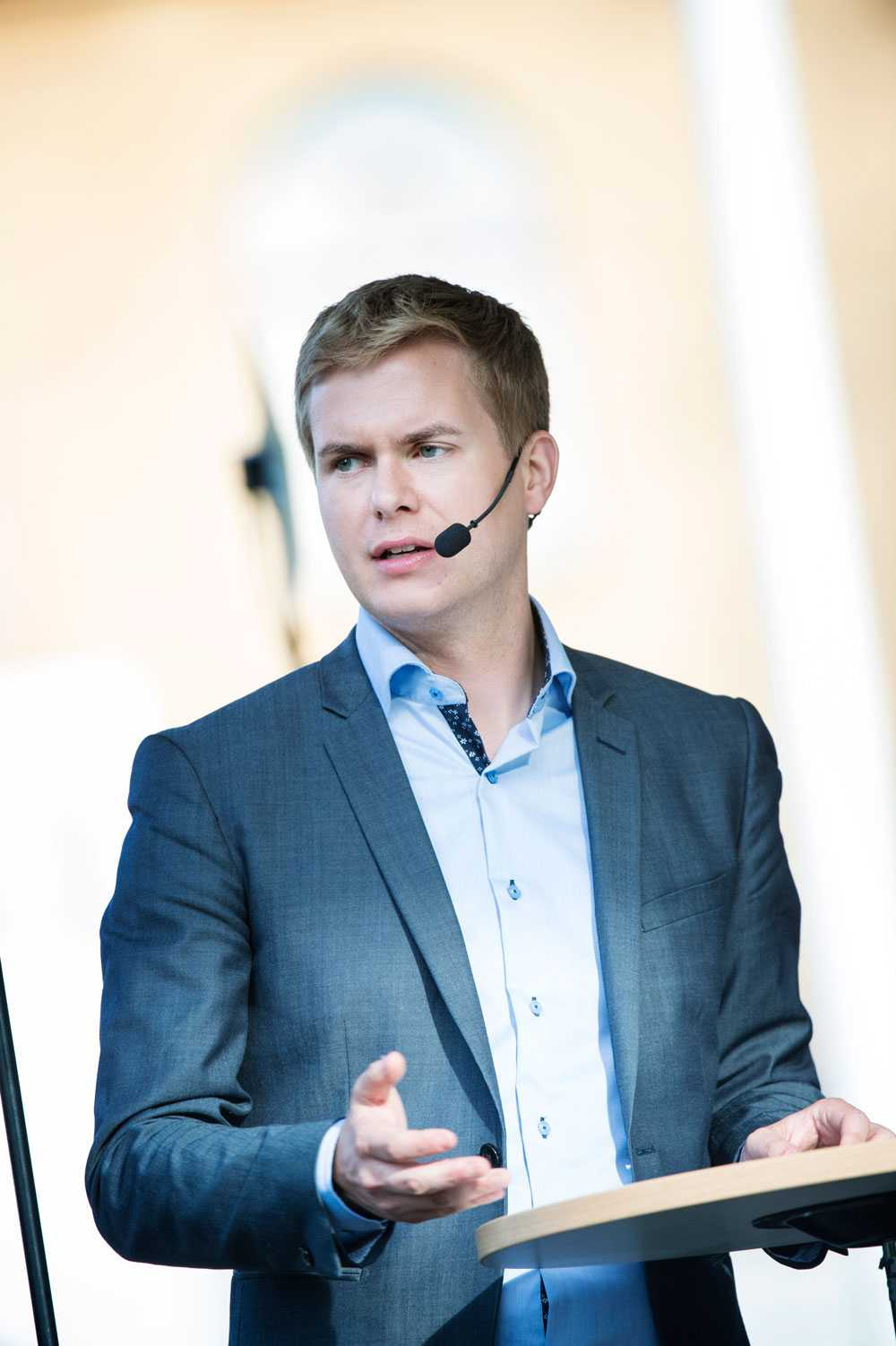Gustav Fridolin (MP) fick toppresultat på högskoleprovet. 2,0.