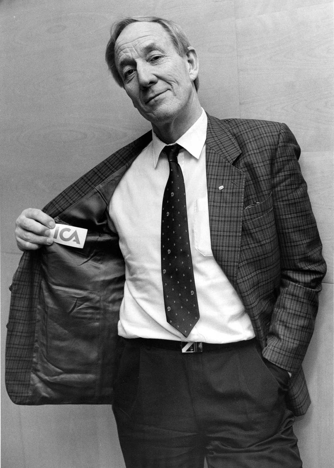 Olle Blomqvist efter det att han sålt sitt företag Ellos till ICA 1988