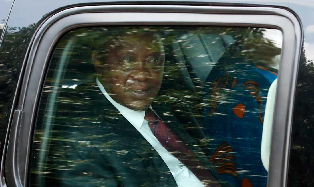 Kenyas president Uhuru Kenyatta, efter ett besök i Vita huset i augusti. Arkivbild.