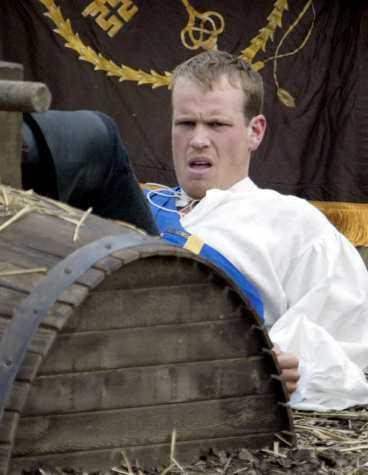 Markus Gustavsson plågas i sträckbänken.