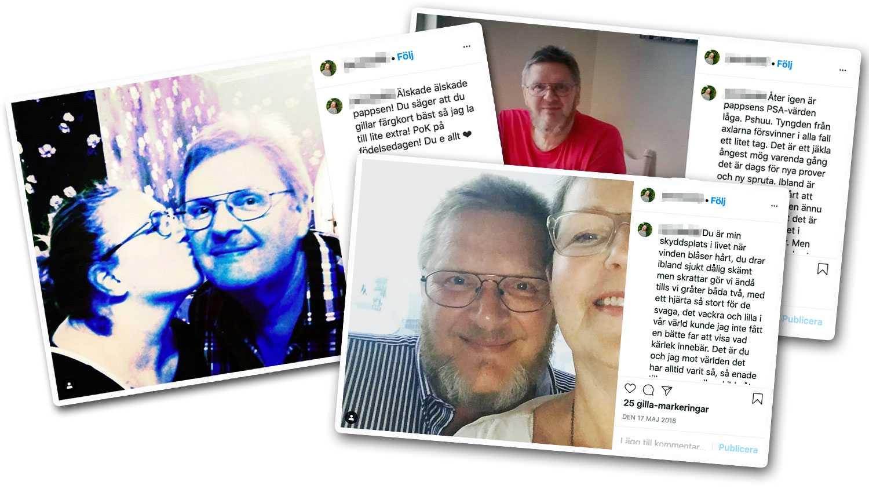 """""""Du är min skyddsplats i livet när blåser hårt, du drar ibland sjukt dåliga skämt men skrattar gör vi ändå tills vi gråter båda två"""". Så beskriver Jenny Bengtsson sin pappa Benny på Instagram."""