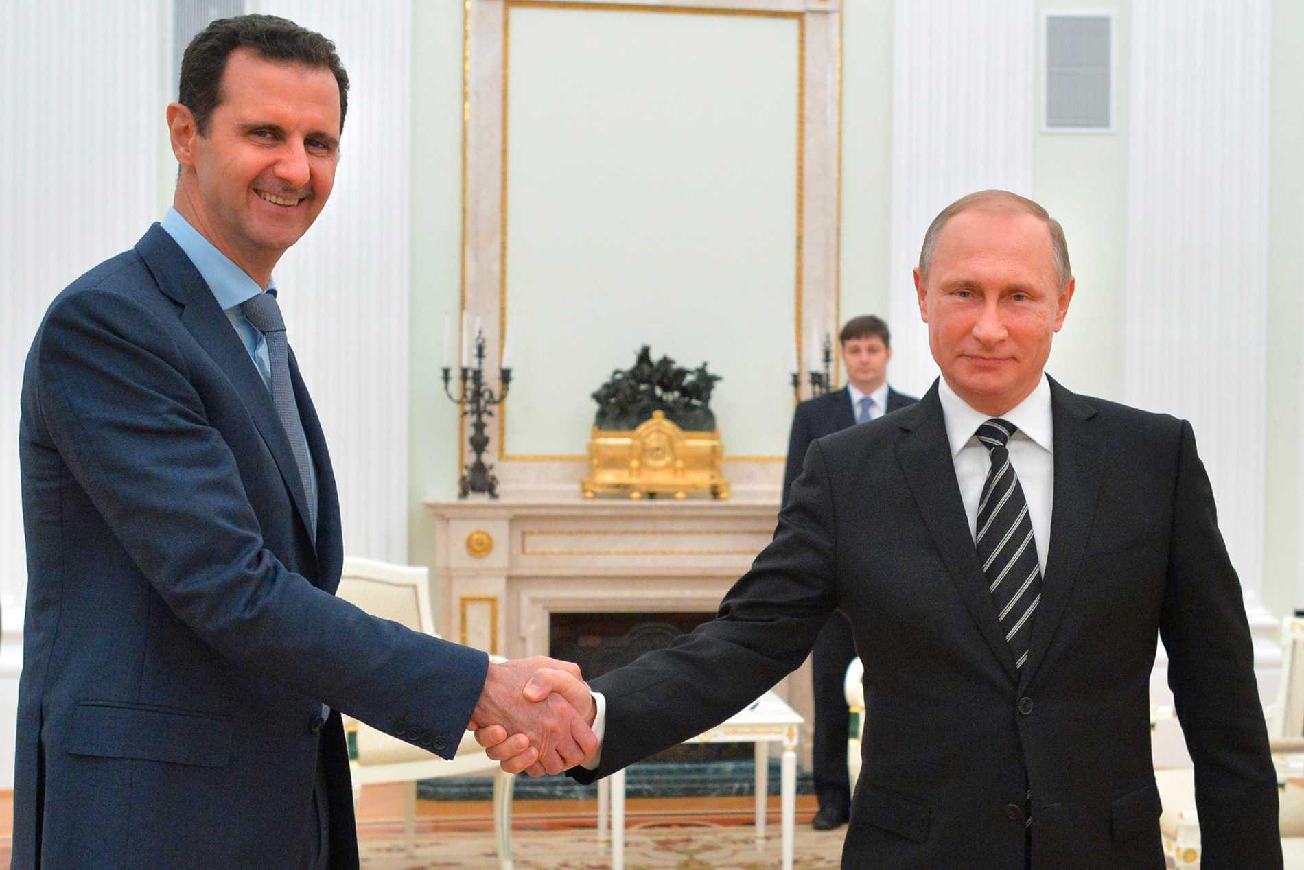 Bashar al-Assad och Vladimir Putin