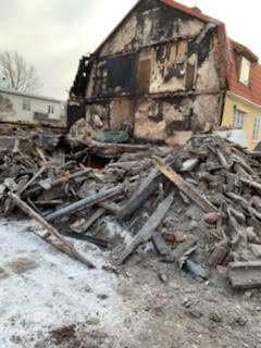 Parets hus efter branden