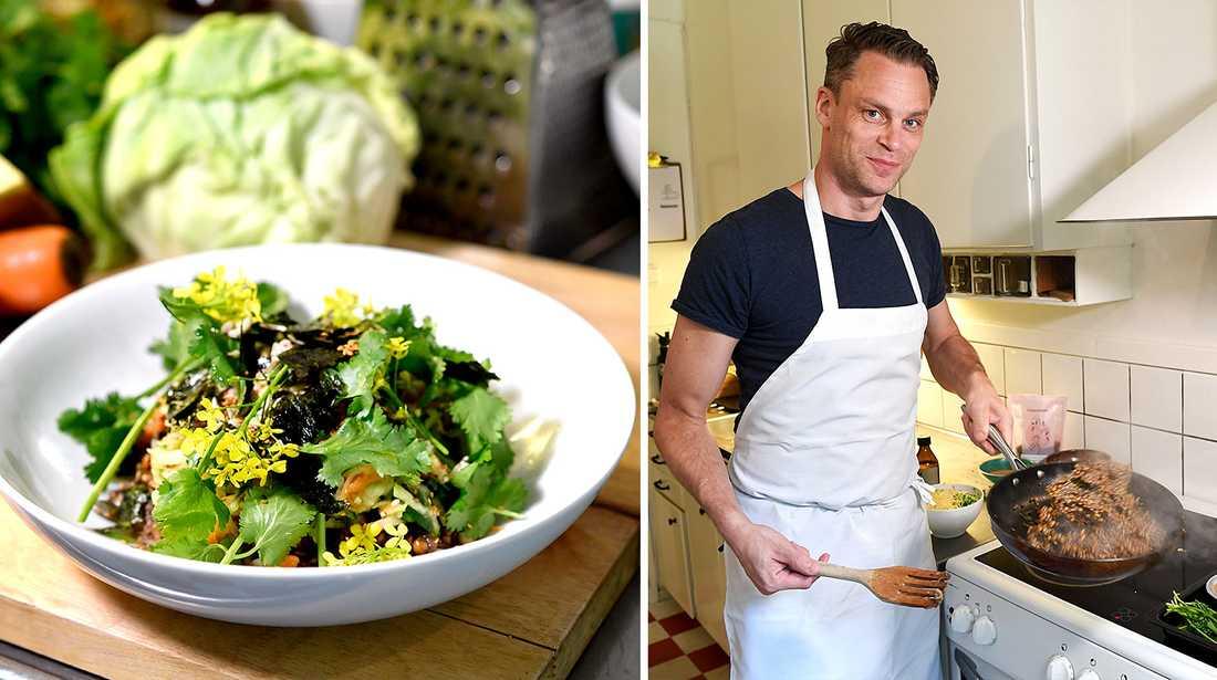 Stefan Eriksson tolkade Eat Foundations hållbarhetsrapport till en maträtt.
