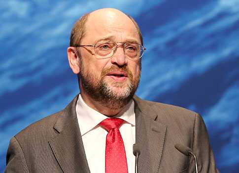 Tyske socialdemokraten Martin Schulz är parlamentets talman.
