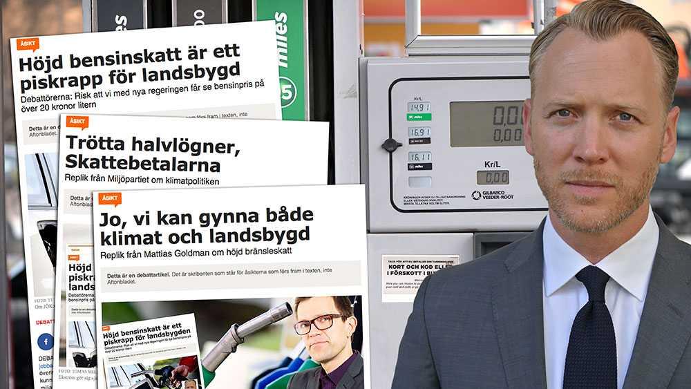 Några kronors högre bensinskatt i Sverige gör varken till eller från för klimatet, däremot får det stor effekt på hushållsekonomin för barnfamiljen på landsbygden. Allra hårdast slår en skattehöjning mot dem som inte har råd att byta bil, skriver Christian Ekström, vd Skattebetalarna.