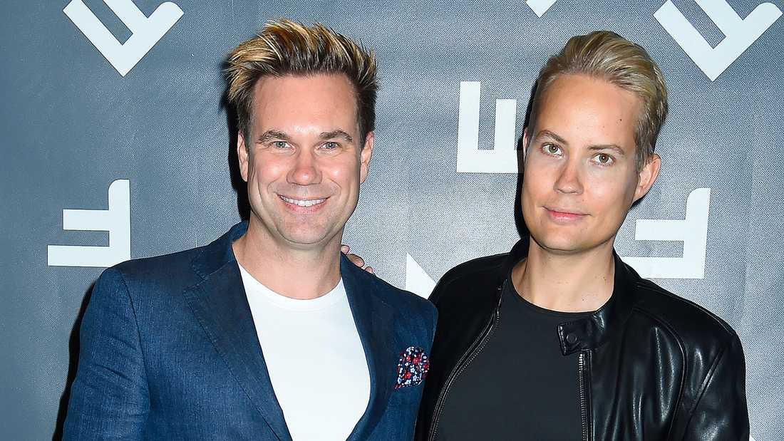 Anders Pihlblad med sin partner Henrik Alsterdal.