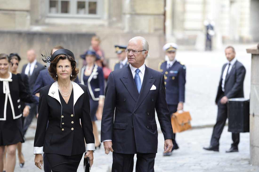 Kung Carl Gustav och drottning Silvia.
