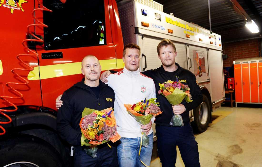 Mikael Bergner, Tommy Tuike och Björn Svensson är brandtrion som räddade livet på Reine Ullén under sommarens skogsbrand i Västmanland – nu är de utsedda till Svenska Hjältars Livräddare 2014!