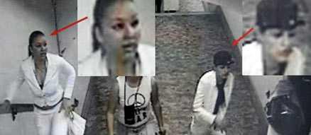 Italiensk polis har släppt dessa bilder på de två kvinnor som misstänks ha attackerat Russo. Efter att ha fått ett paraply inkört i ena ögat avled 23-åringen på ett sjukhus i Rom i fredags.