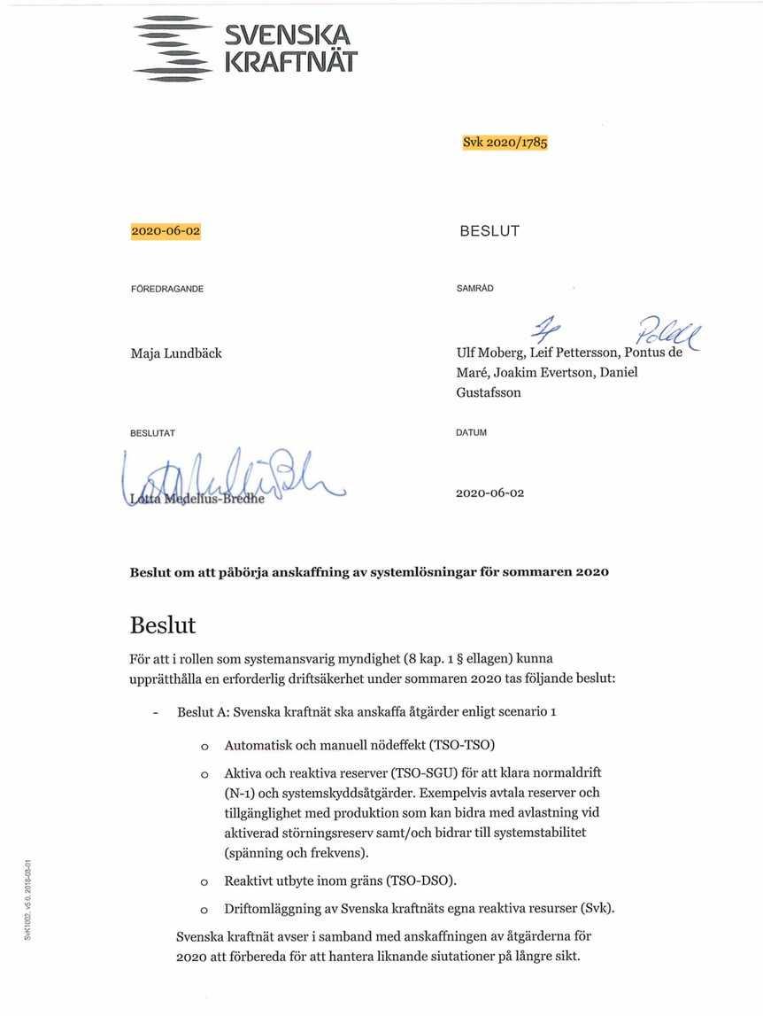 Handlingarna är identiska, bortsett från att generaldirektörens underskrift saknas. Enligt Aftonbladets källor ströks flera viktiga stycken i handlingen efter att Aftonbladet begärt ut den.