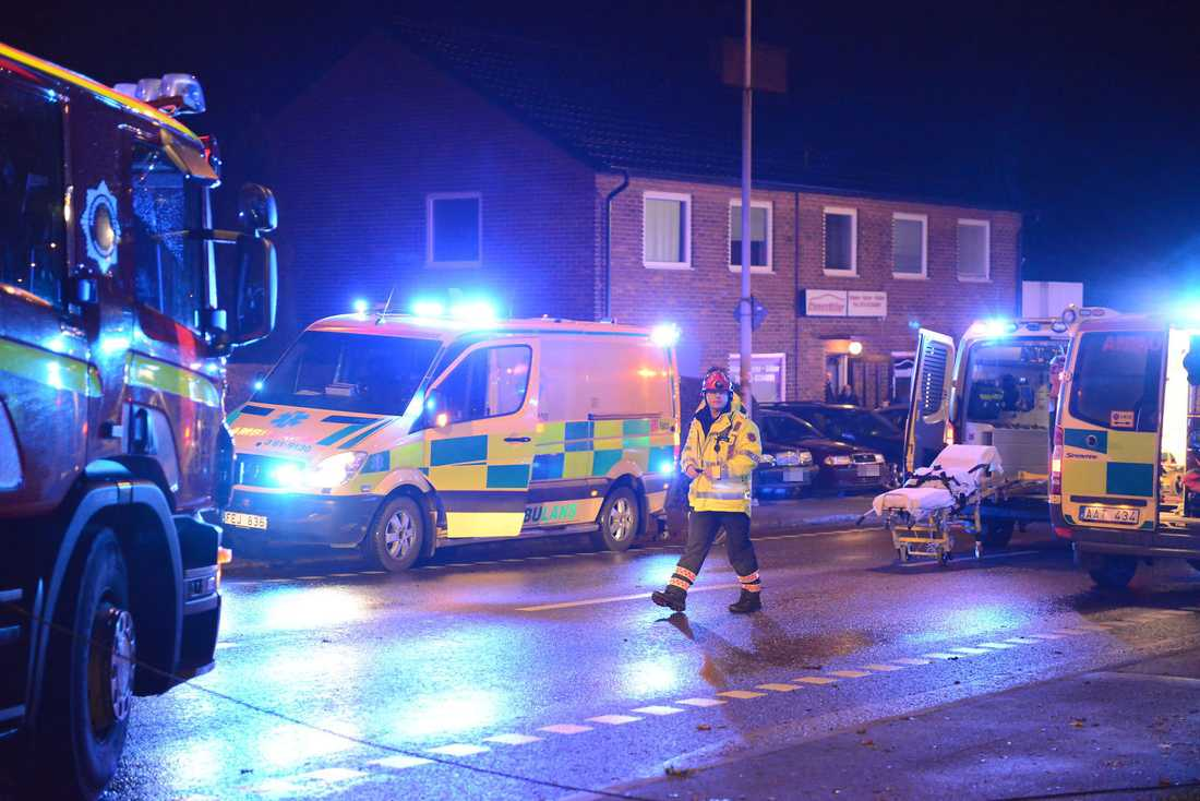 Fyra personer skadades.